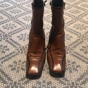 Womens Prada leather boots